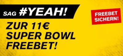 Interwetten Super Bowl 11 Euro gratis