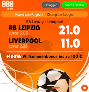 Leipzig Liverpool 888sport Boost