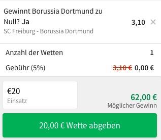 Tipico Dortmund Freiburg Wette