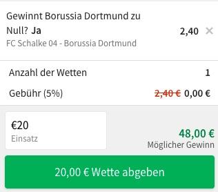 Schalke Dortmund tipico Quote