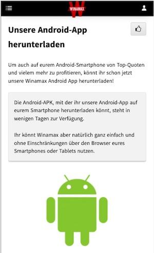 Winamax Android App