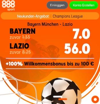 Bayern Lazio Quoten 888sport
