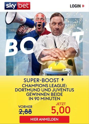 Skybet Super Boost BVB Juve