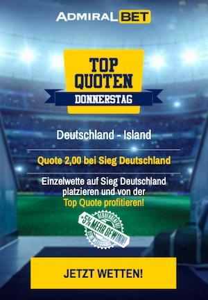 AdmiralBet Deutschland Island Topquoten Donnerstag