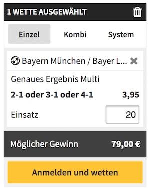 Winamax FC Bayern Wette Quoten