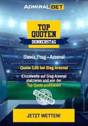 Slavia Prag Arsenal Topquote Admiralbet