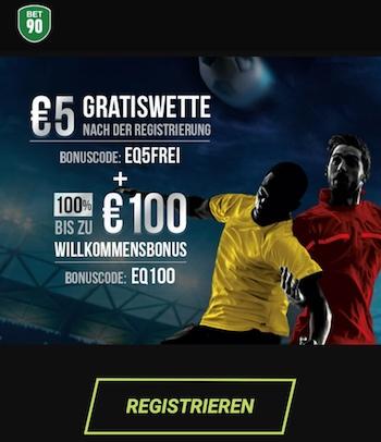 bet90 bonus + gratiswette