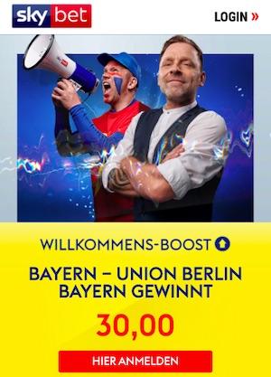 SkyBet Bayern Union Willkommensboost