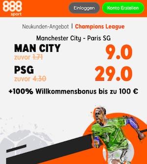 888sport Man City PSG Topquoten
