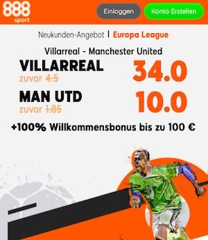 Villareal Man United Boost 888sport