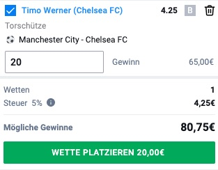 Betano Timo Werner Tor Wette