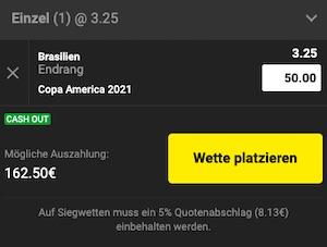 Copa America Brasilien Quote