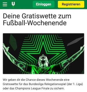 Unibet CL Finale 10 Euro Gratiswette