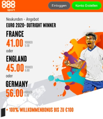 EM Quotenboost 888sport