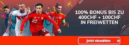 Bahigo 400 CHF Bonus 100 CHF Freiwetten
