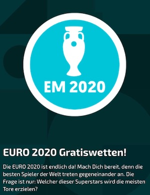 Mobilebet EM 2021 Torschützen Gratiswetten