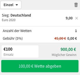 Tipico Deutschland Europameister Wette