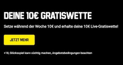 10 euro Live Gratiswette Unibet