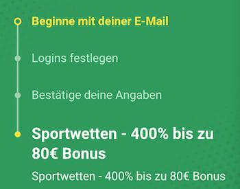 unibet bonus 400 bis 80euro
