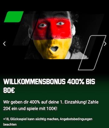 Unibet 400% Bonus