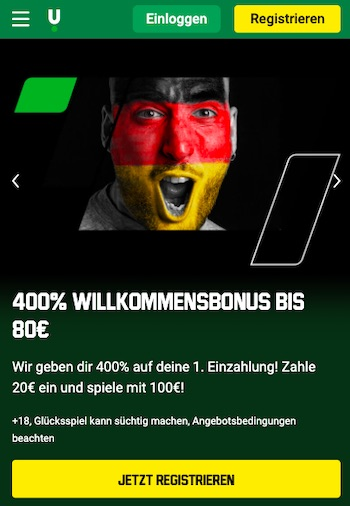 400% Sportwetten Bonus Unibet