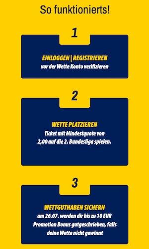 Admiralbet risikofrei wetten 2. Bundesliga Start