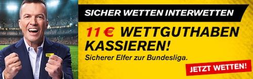 Interwetten Buli Start 2021/22 11 Euro