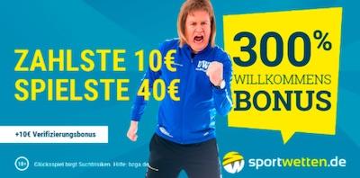 300% Willkommensbonus Sportwetten.de