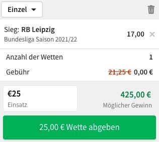 Leipzig Meister Quote Tipico