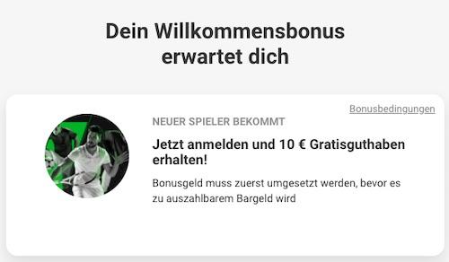 10 Euro gratis ohne Einzahlung Unibet