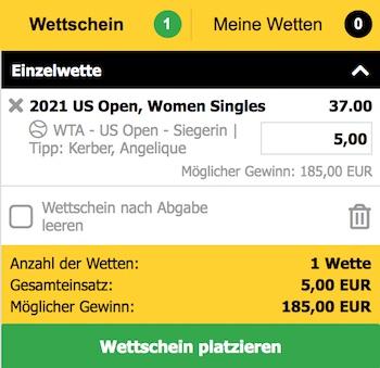 Interwetten US Open Sieg Quote Kerber