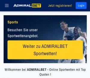 Admiralbet Foto Homepage