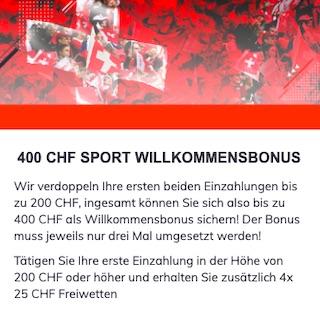 400 CHF Bonus Bahigo