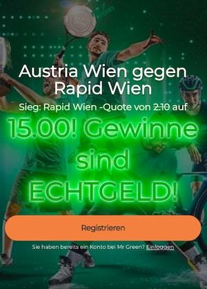 Mr. Green Rapid Quotenboost vs Austria