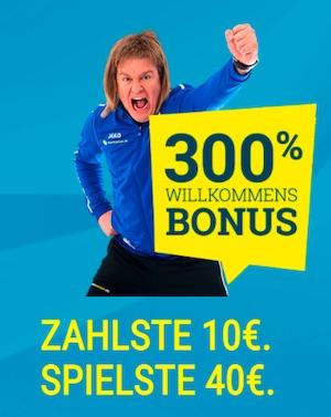 Sportwetten.de Willkommensbonus 300%