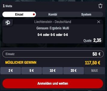 Winamax Liechtenstein Deutschland Quoten