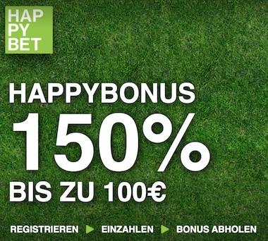 Happybet bonus 150
