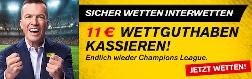 11 Euro Interwetten Champions League Start