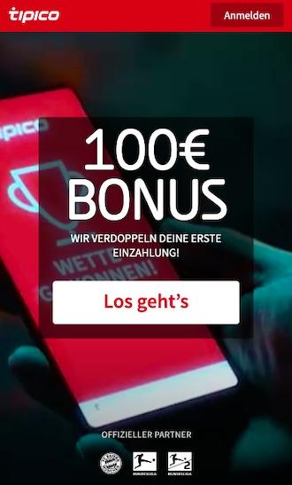 100€ Tipico Bonus