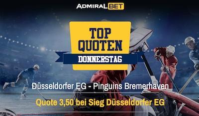 Admiralbet Top Quoten Donnerstag Eishockey