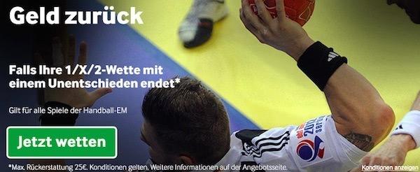 betway geld zurück wette für handball em 2016 foto